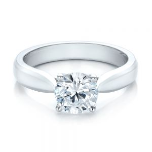 Contemporary Solitaire Engagement Ring