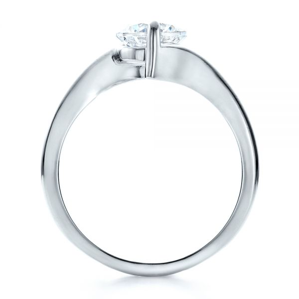 Contemporary Solitaire Engagement Ring - Front View -  1484 - Thumbnail