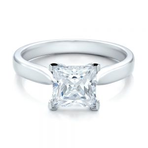 Contemporary Solitaire Princess Cut Diamond Engagement Ring