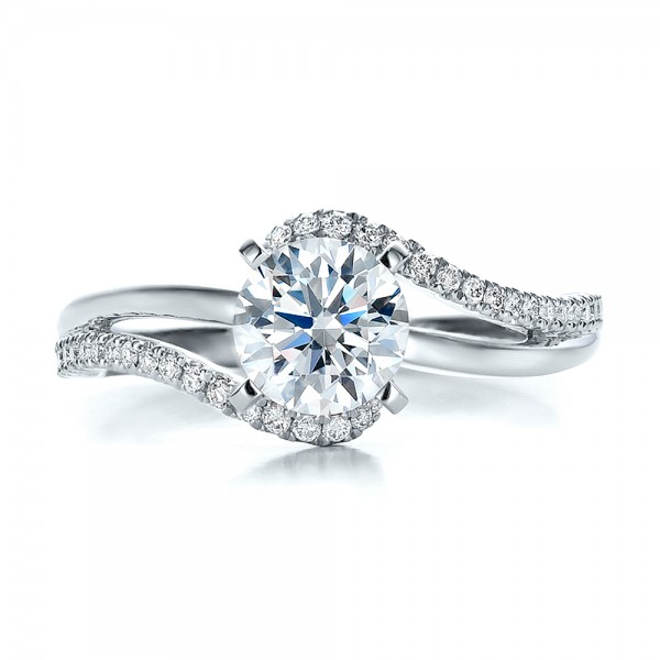 Contemporary Wrapped Split Shank Diamond Engagement Ring
