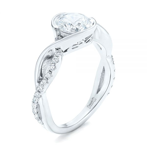 Criss-Cross Wrap Diamond Engagement Ring