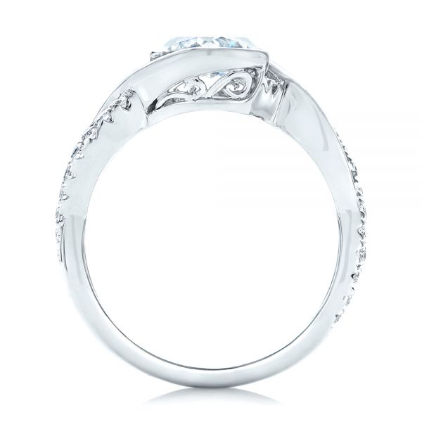 Criss-Cross Wrap Diamond Engagement Ring - Front View -  102477 - Thumbnail