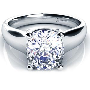 Cushion Diamond Solitaire Engagement Ring