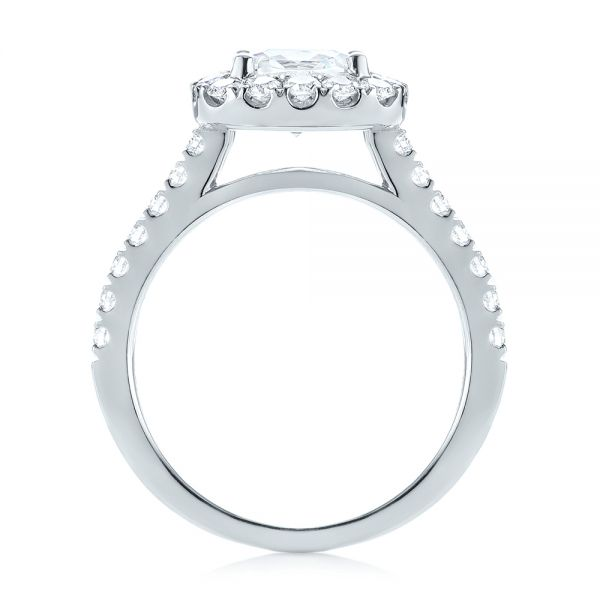 Cushion Halo Diamond Engagement Ring - Front View -  103993 - Thumbnail