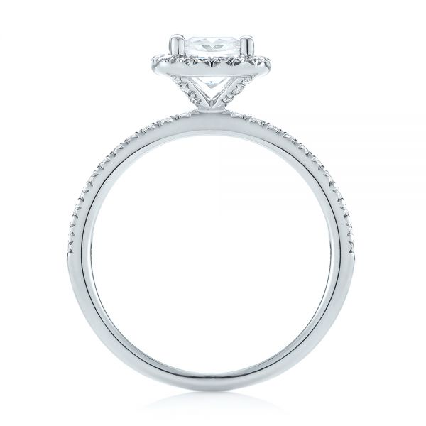 Cushion Halo Diamond Engagement Ring - Front View -  104000 - Thumbnail