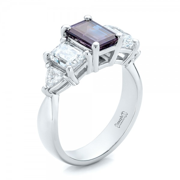 engagement listing halo setting diamond rings alexandrite il ring platinum