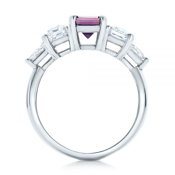 Custom Alexandrite and Diamond Engagement Ring - Front View -  101995 - Thumbnail