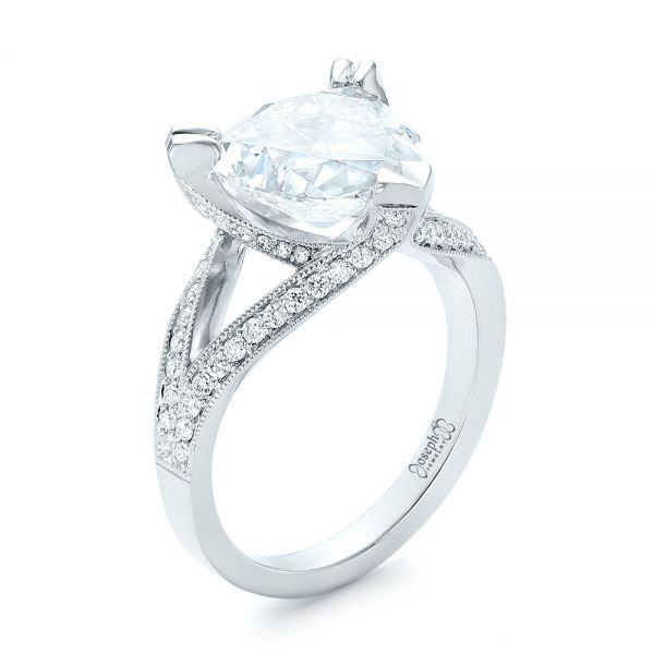 Custom Antique Style Diamond Engagement Ring - Image