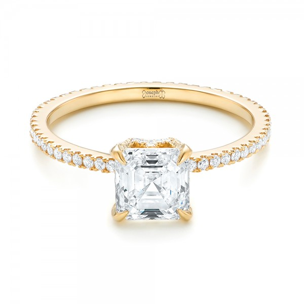 Custom Asscher Diamond Engagement Ring