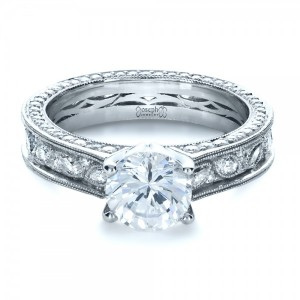 Custom Bezel Set Diamond Engagement Ring