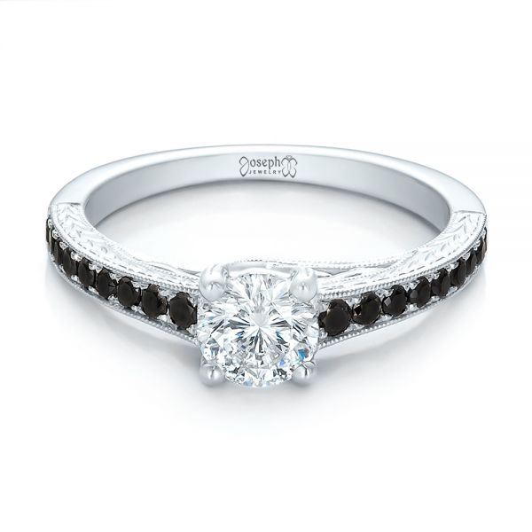 Engagement Rings With Black
