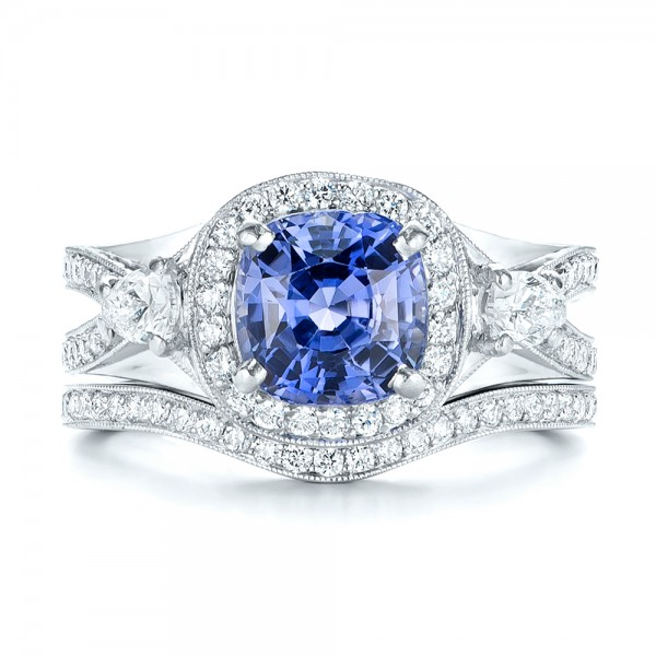 Custom Blue Sapphire Engagement Ring