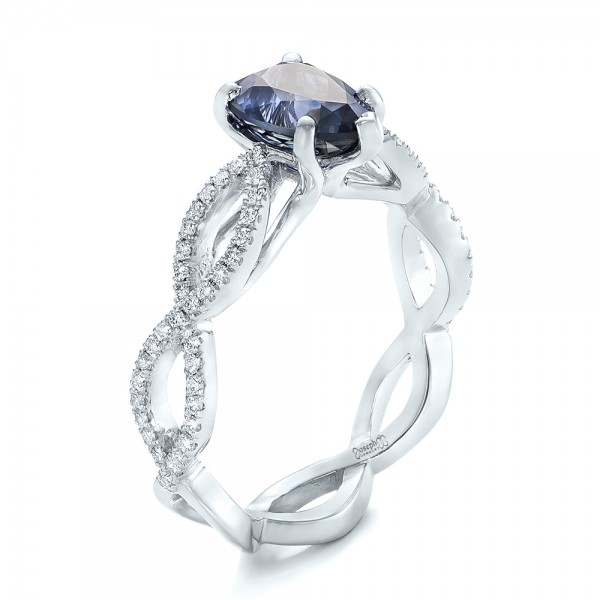 engagement sapphire ring rings moissanite products and accent diamond paired perfectly accented blue