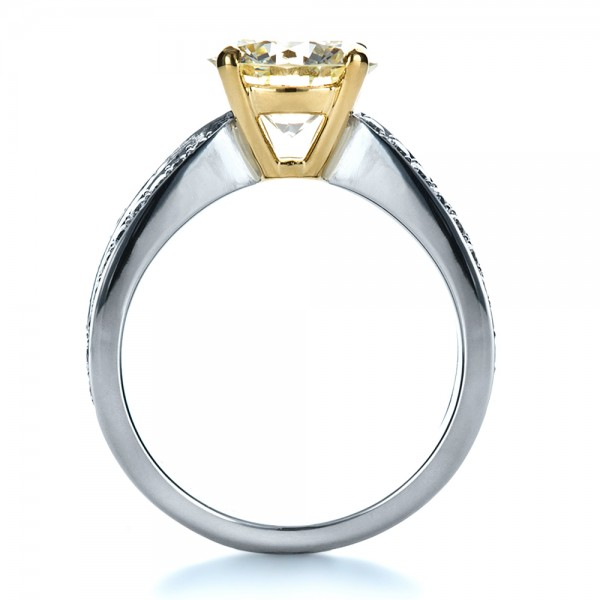 custom canary engagement ring 1225