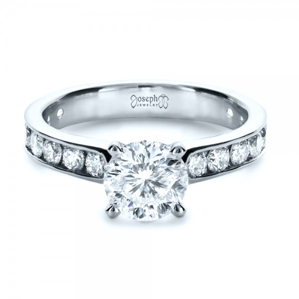 Custom Channel Set Diamond Engagement Ring