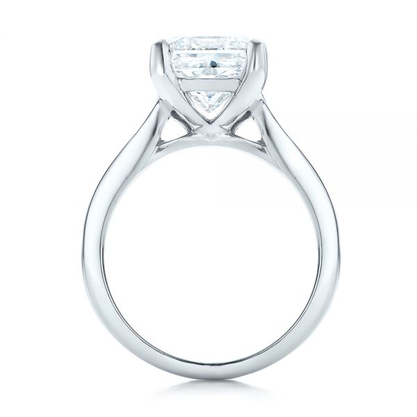 Custom Channel Set Princess Cut Diamond Engagement Ring - Front View -  101107 - Thumbnail