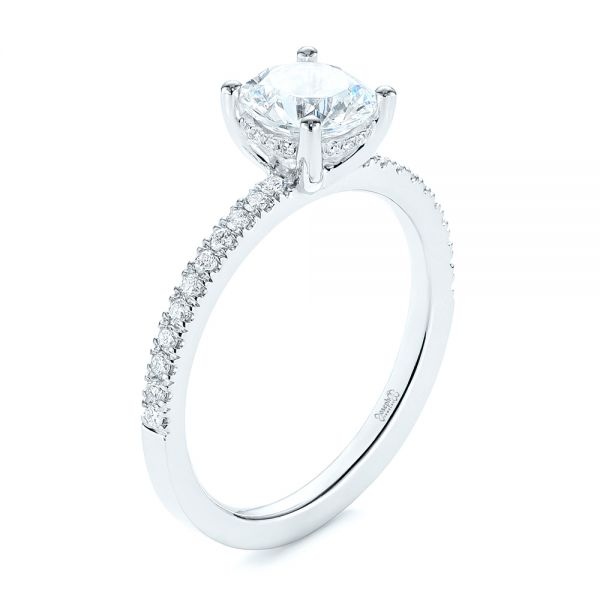 Custom Classic Diamond Engagement Ring - Image