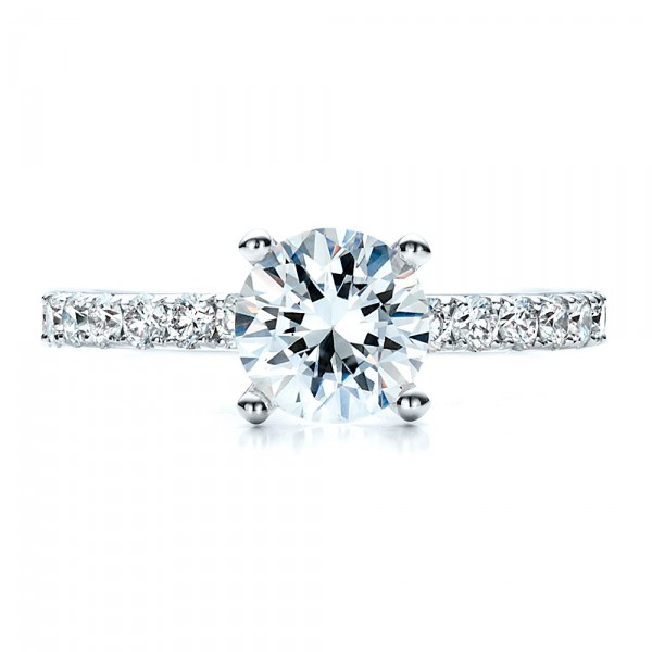 Custom Classic Engagement Ring - Top View