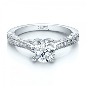Custom Criss-Cross Diamond Engagement Ring