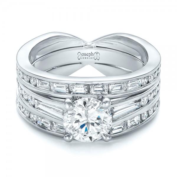 Custom Diamond Bridal Set - Laying View