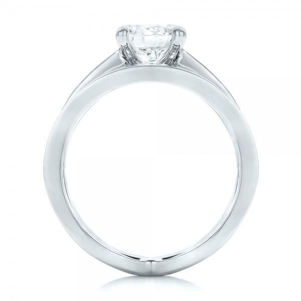 Custom Diamond Bridal Set - Finger Through View