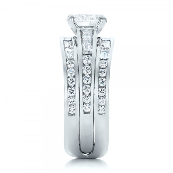 Custom Diamond Bridal Set - Side View