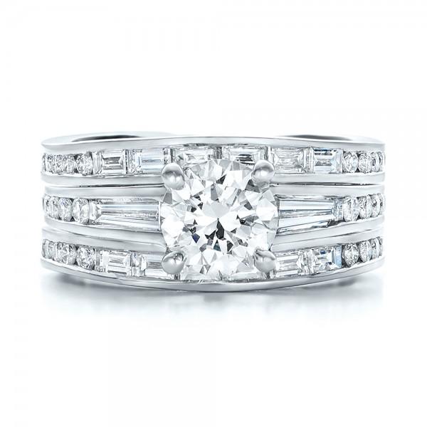 Custom Diamond Bridal Set - Top View