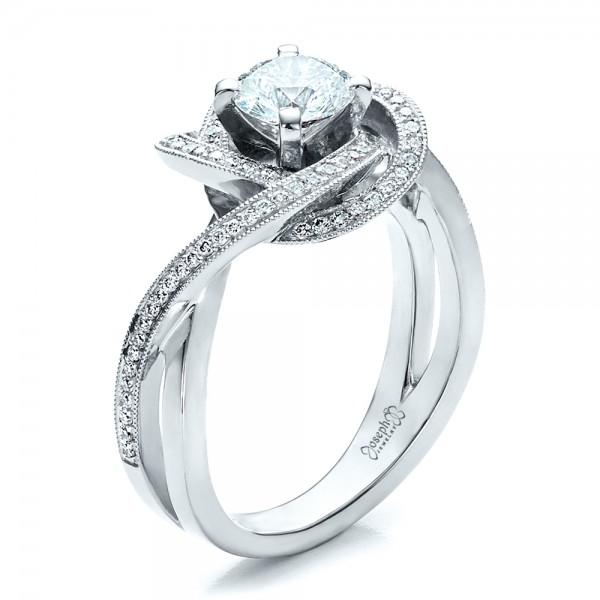 Custom diamond engagement ring 1476 for Custome wedding rings
