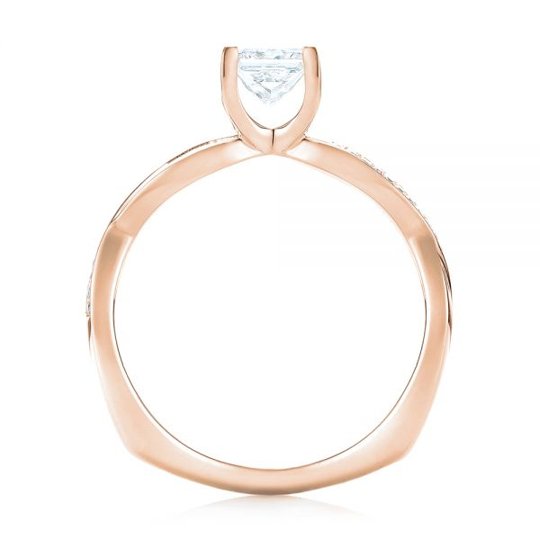 14k Rose Gold 14k Rose Gold Custom Diamond Engagement Ring - Front View -  103637