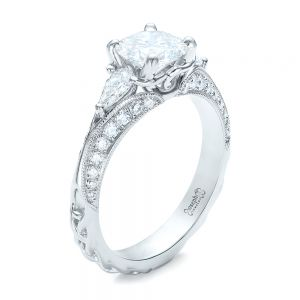 Custom Diamond Engagement Ring - Image