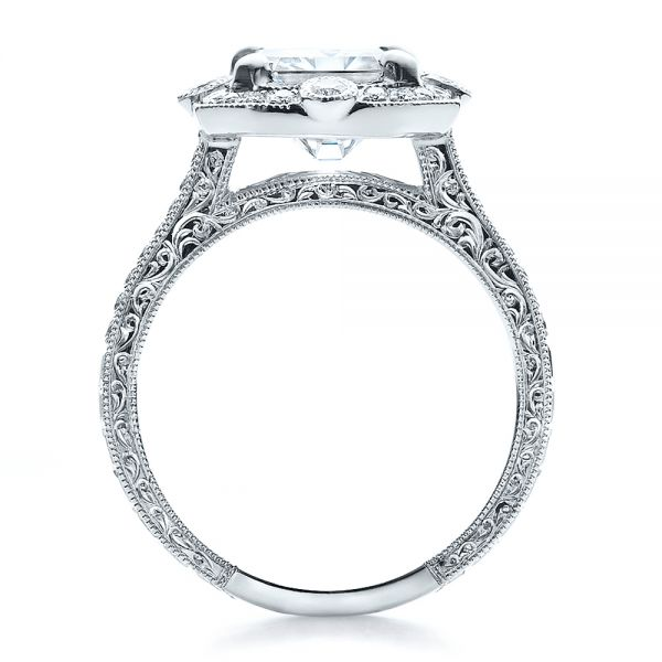 Custom Diamond Engagement Ring - Front View -  100091 - Thumbnail