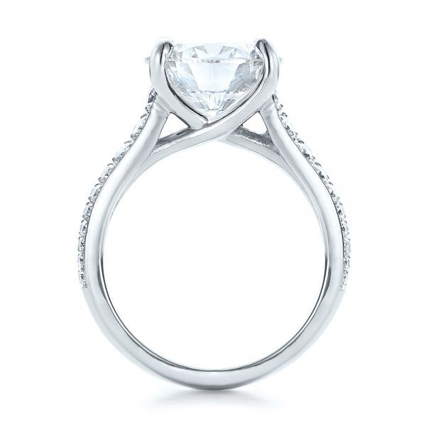 Custom Diamond Engagement Ring - Front View -  100872 - Thumbnail