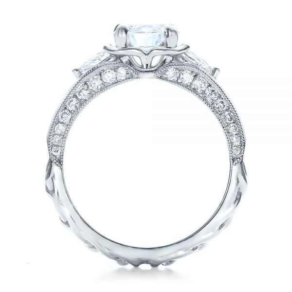 Platinum Custom Diamond Engagement Ring - Front View -