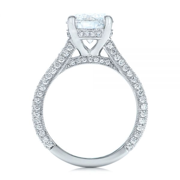 14k White Gold 14k White Gold Custom Diamond Engagement Ring - Front View -  101994