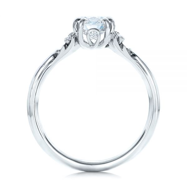 Platinum Platinum Custom Diamond Engagement Ring - Front View -