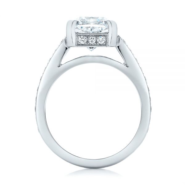 Custom Diamond Engagement Ring - Front View -  102042 - Thumbnail