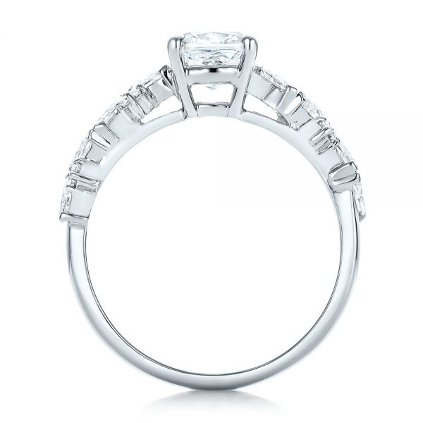Custom Diamond Engagement Ring - Front View -  102092 - Thumbnail