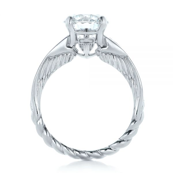 Custom Diamond Engagement Ring - Front View -  102218 - Thumbnail