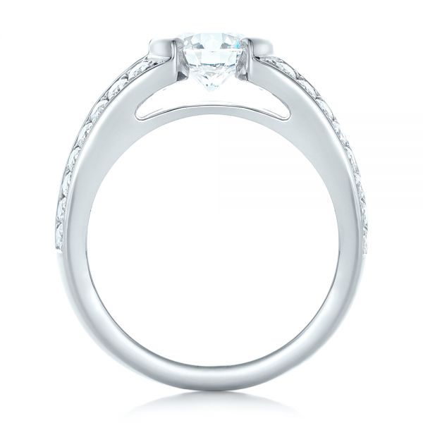 Custom Diamond Engagement Ring - Front View -  102307 - Thumbnail