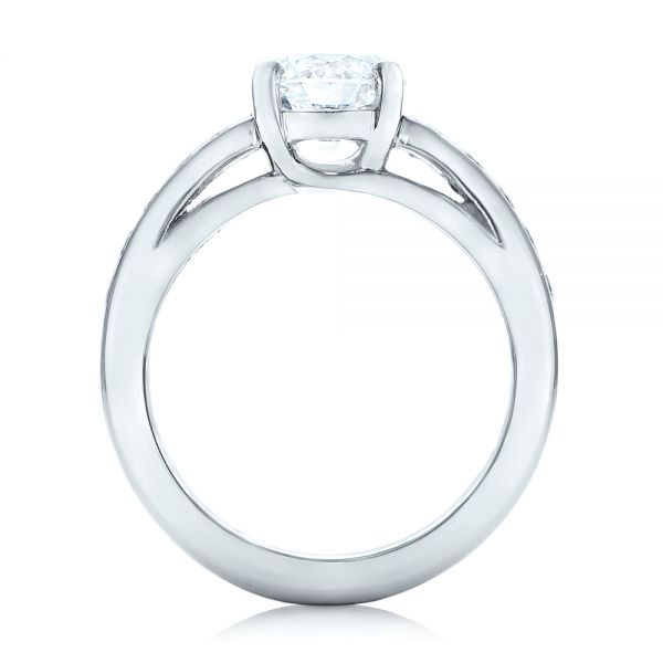 Custom Diamond Engagement Ring - Front View -  102345 - Thumbnail