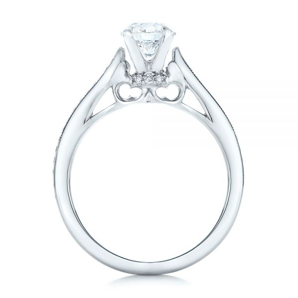 Custom Diamond Engagement Ring - Front View -  102363 - Thumbnail