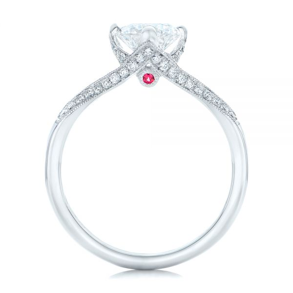 Custom Diamond Engagement Ring - Front View -  102405 - Thumbnail