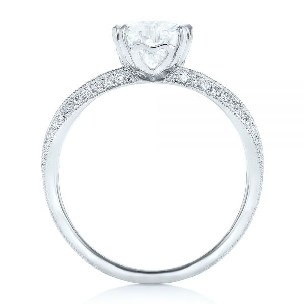 Custom Diamond Engagement Ring - Front View -  102463 - Thumbnail