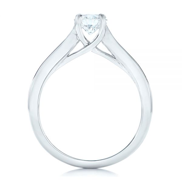 Custom Diamond Engagement Ring - Front View -  102470 - Thumbnail