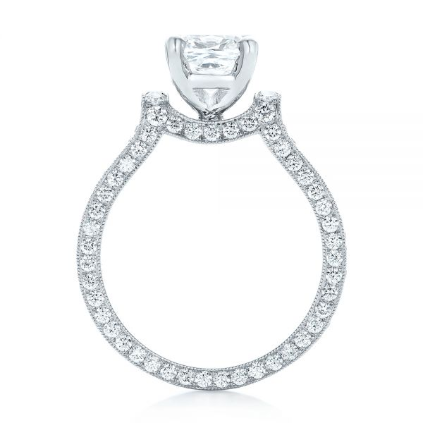 Custom Diamond Engagement Ring - Front View -  102895 - Thumbnail
