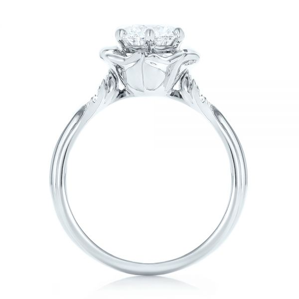 Platinum Custom Diamond Engagement Ring - Front View -  102896
