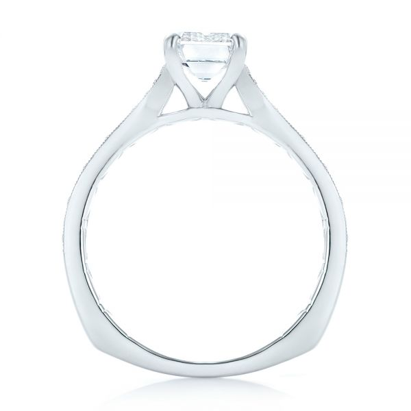 Custom Diamond Engagement Ring - Front View -  102904 - Thumbnail