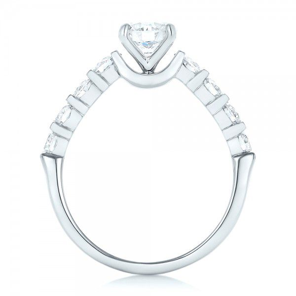Custom Diamond Engagement Ring - Front View -  102955 - Thumbnail