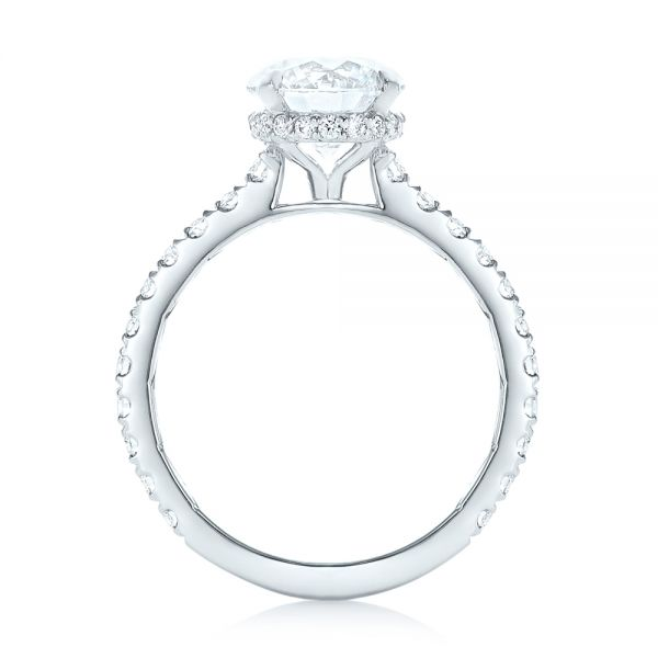 Custom Diamond Engagement Ring - Front View -  102995 - Thumbnail