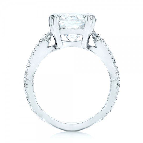 Custom Diamond Engagement Ring - Front View -  103042 - Thumbnail
